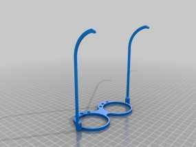 带LEDs 的书呆子眼镜 3D模型