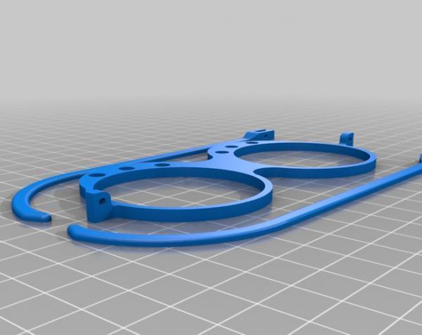 带LEDs 的书呆子眼镜 3D模型  图3