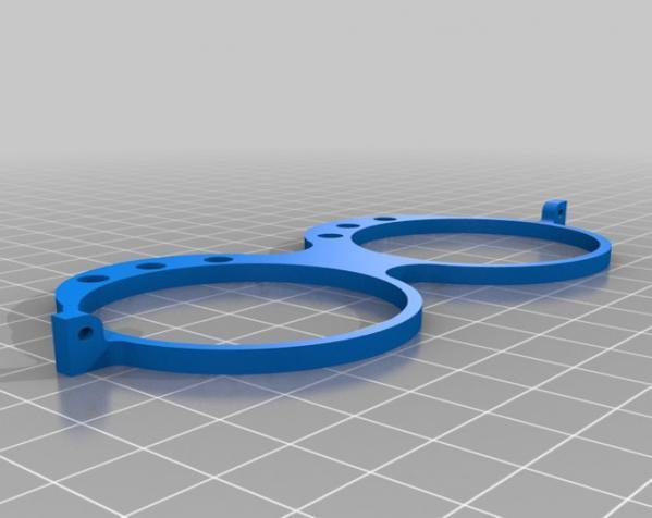 带LEDs 的书呆子眼镜 3D模型  图4