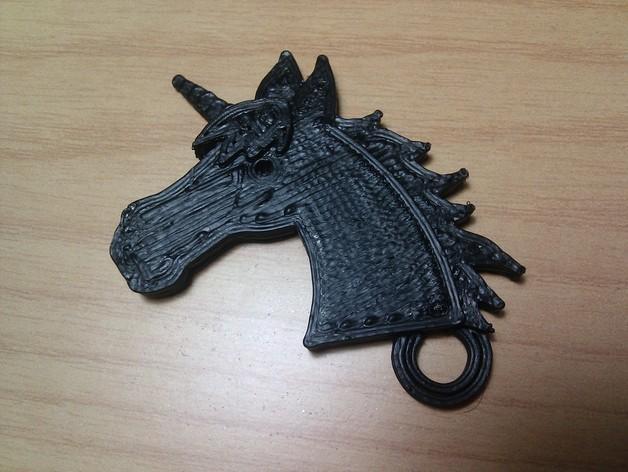 独角兽钥匙链 3D模型  图5