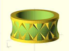 Quasi Knurled Ring戒指 3D模型
