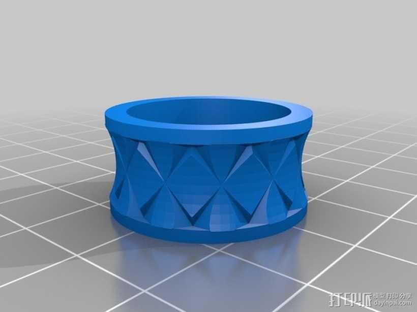 Quasi Knurled Ring戒指 3D模型  图2