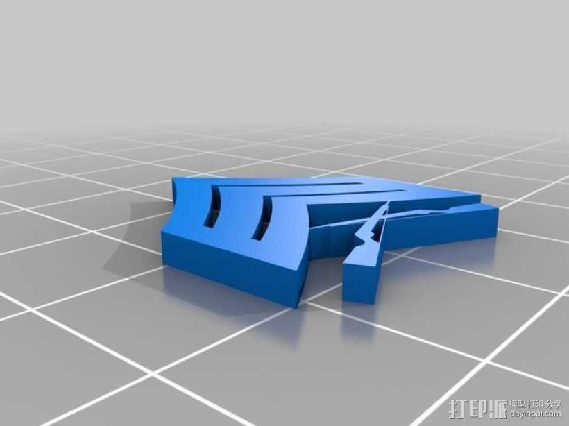 美国海军陆战队军衔徽章 3D模型  图4