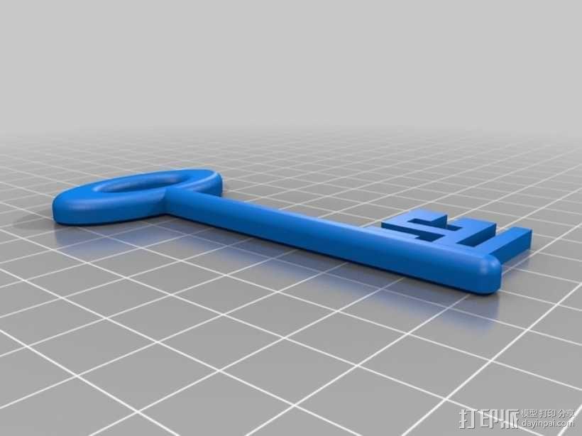 道具钥匙 3D模型  图1