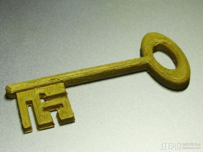 道具钥匙 3D模型  图2