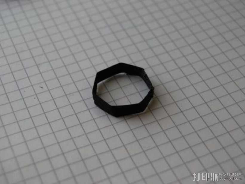 七边形戒指 3D模型  图1