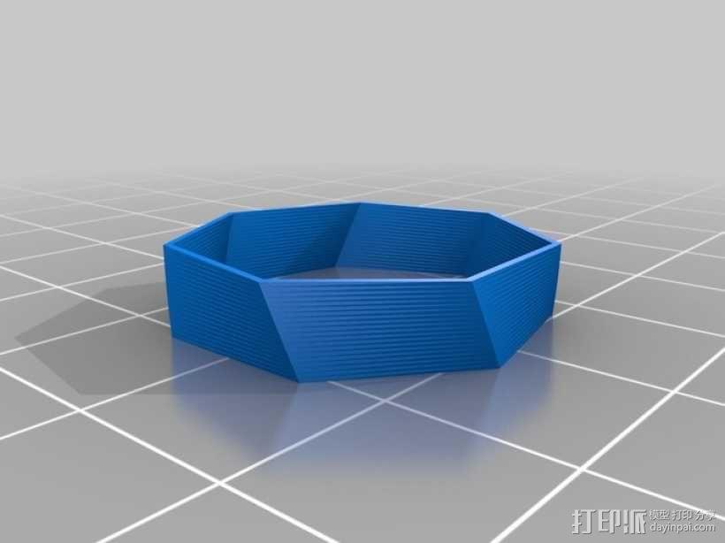 七边形戒指 3D模型  图2