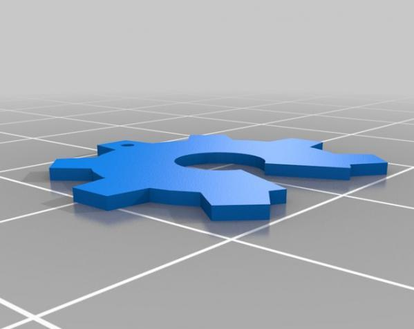齿轮项链 3D模型  图2
