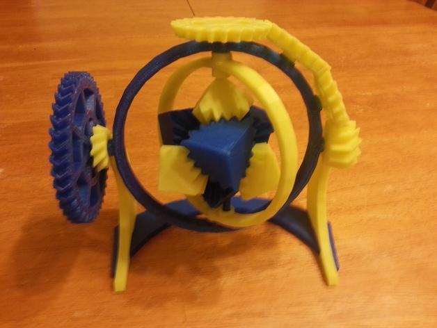 神奇的陀螺魔方齿轮 3D模型  图2