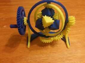 神奇的陀螺魔方齿轮 3D模型