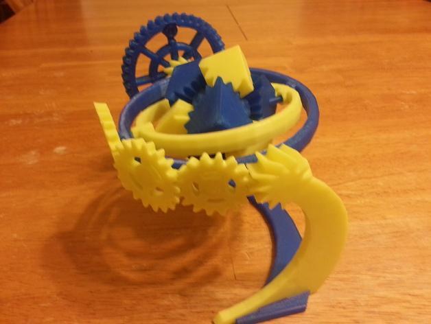 神奇的陀螺魔方齿轮 3D模型  图3