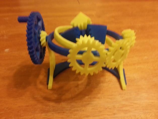 神奇的陀螺魔方齿轮 3D模型  图4