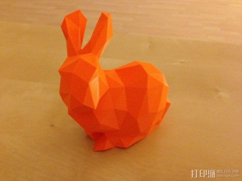 低多边形兔子 3D模型  图1