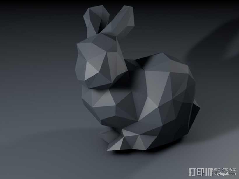 低多边形兔子 3D模型  图3