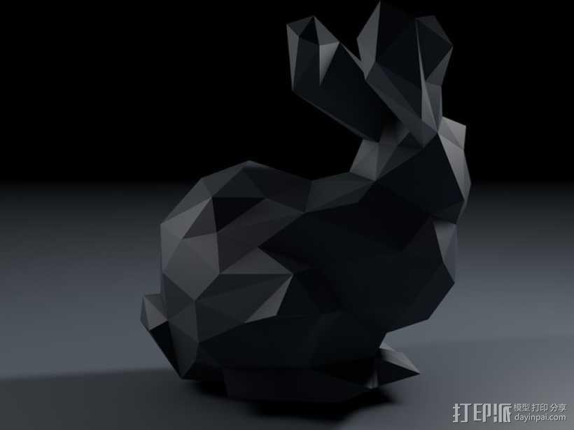 低多边形兔子 3D模型  图4