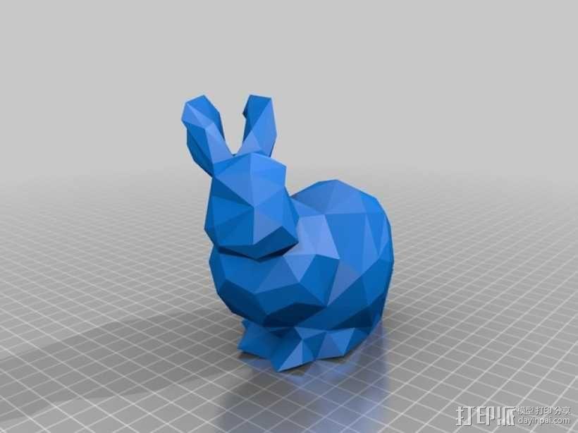 低多边形兔子 3D模型  图5