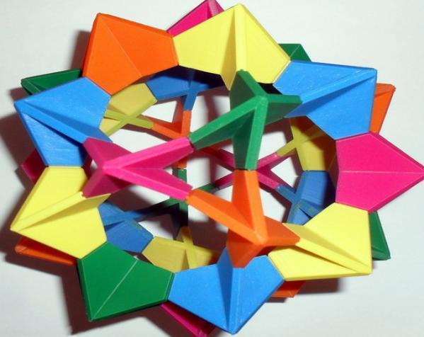 伊莱克特拉 三维打印模块化折纸 3D模型  图2