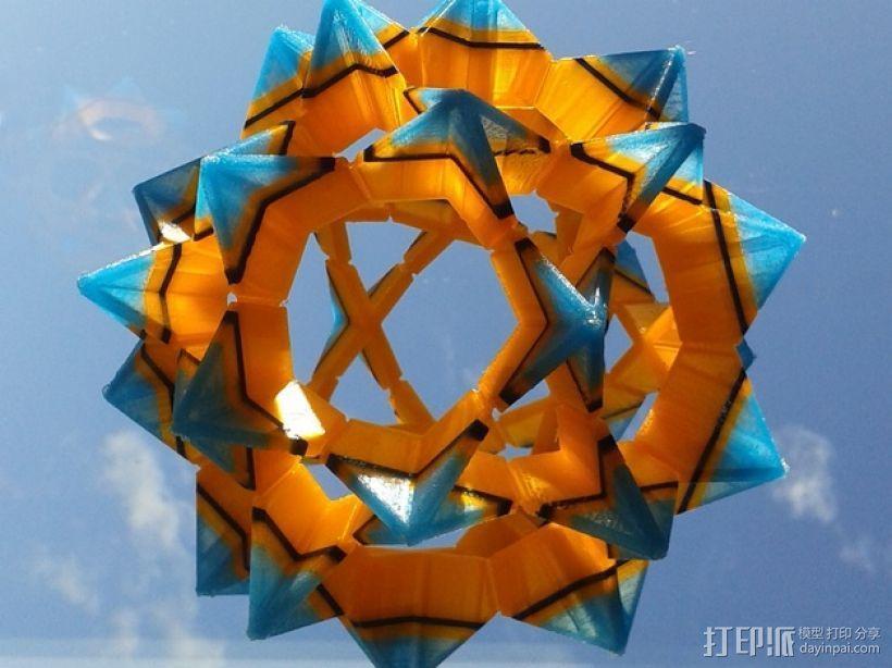 伊莱克特拉 三维打印模块化折纸 3D模型  图1