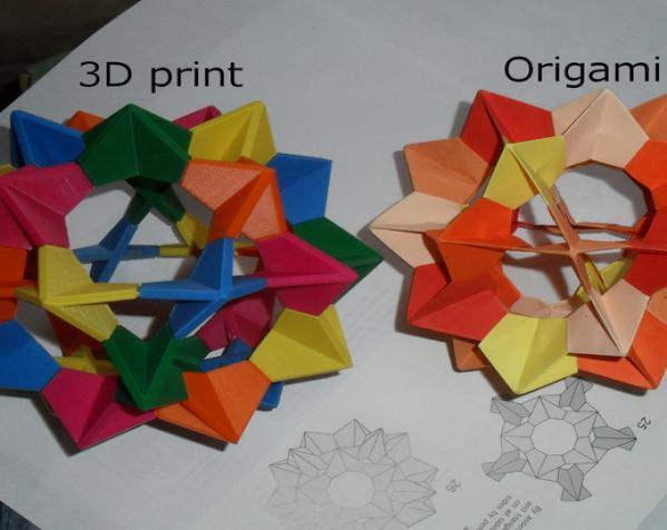 伊莱克特拉 三维打印模块化折纸 3D模型  图4