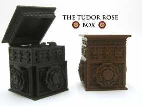 玫瑰花饰方盒  3D模型