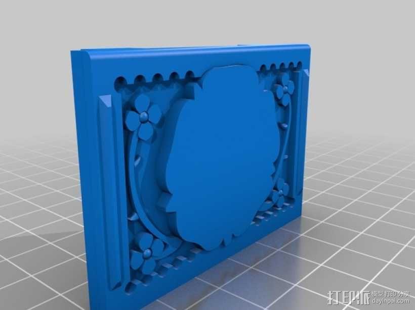 玫瑰花饰方盒  3D模型  图3