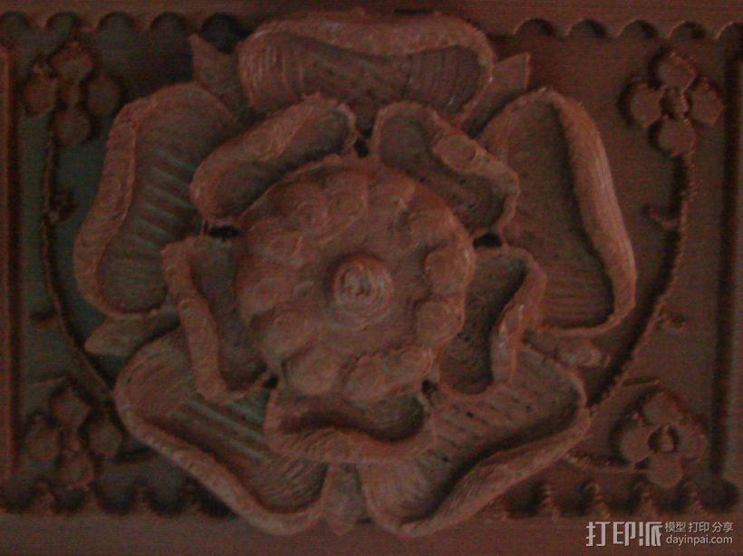 玫瑰花饰方盒  3D模型  图5