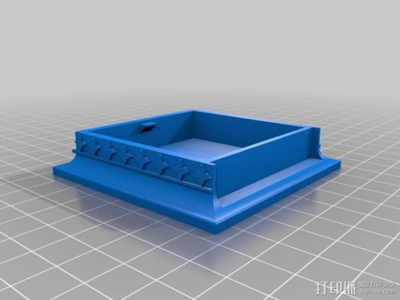 玫瑰花饰方盒  3D模型  图13