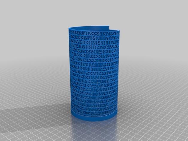 镂空数字笔筒 3D模型  图7