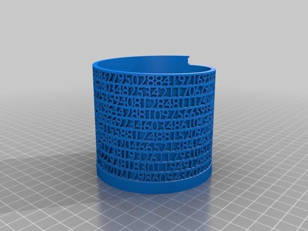 镂空数字笔筒 3D模型  图8