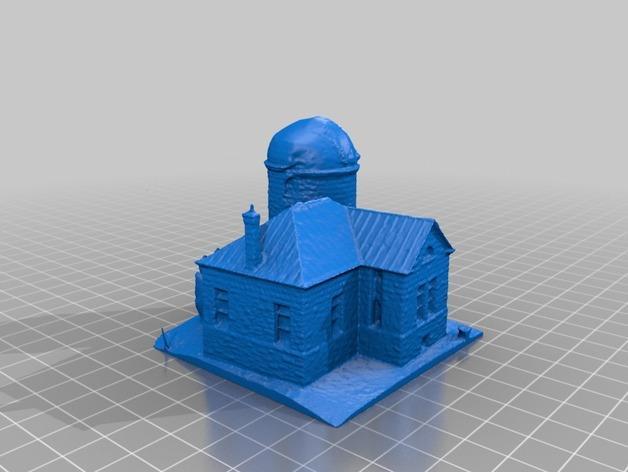 霍尔顿天文台 3D打印建筑 3D模型  图2