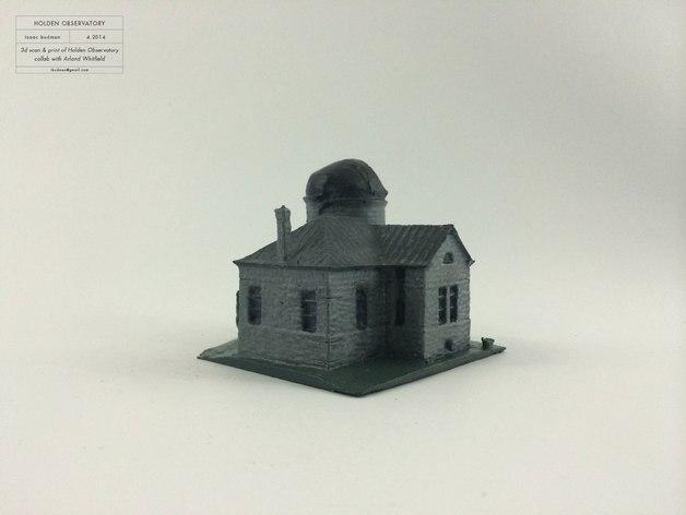霍尔顿天文台 3D打印建筑 3D模型  图3