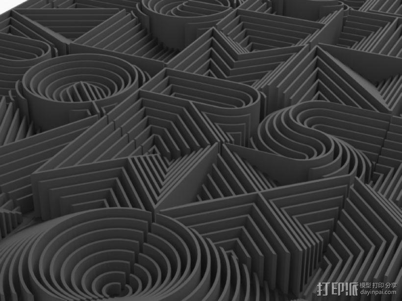 3D字母 3D模型  图3