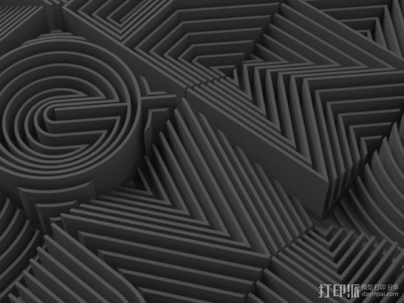 3D字母 3D模型  图2