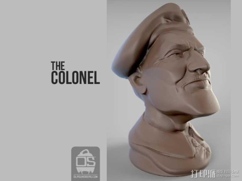 陆军上校雕塑 3D模型  图1