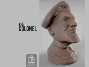 陆军上校雕塑 3D模型
