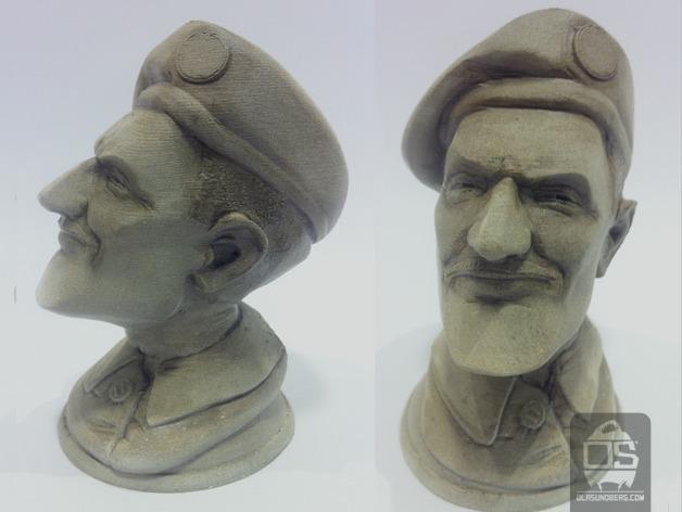 陆军上校雕塑 3D模型  图3