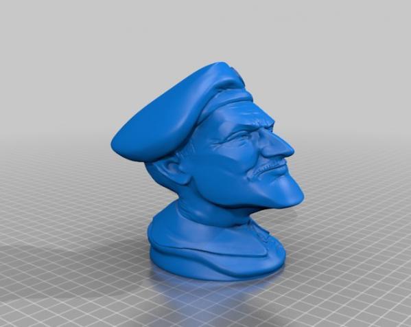 陆军上校雕塑 3D模型  图4