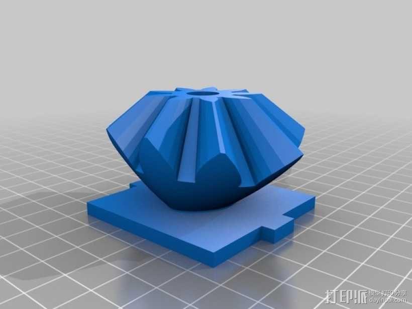 心形手动曲柄 3D模型  图3