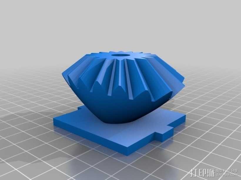 心形手动曲柄 3D模型  图4