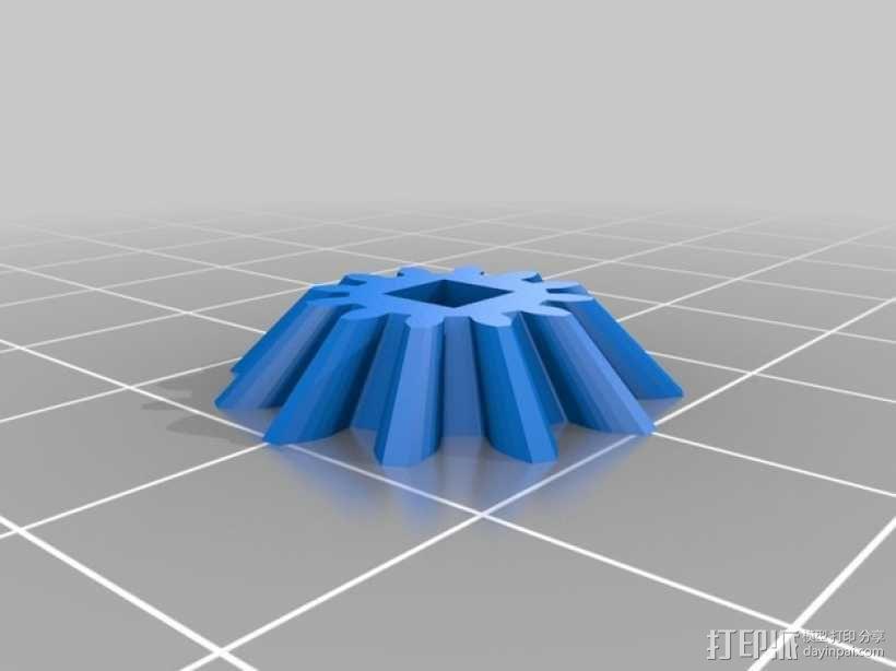 心形手动曲柄 3D模型  图8