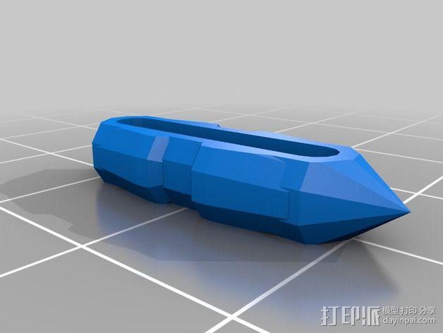 三个齿轮心 3D模型  图2