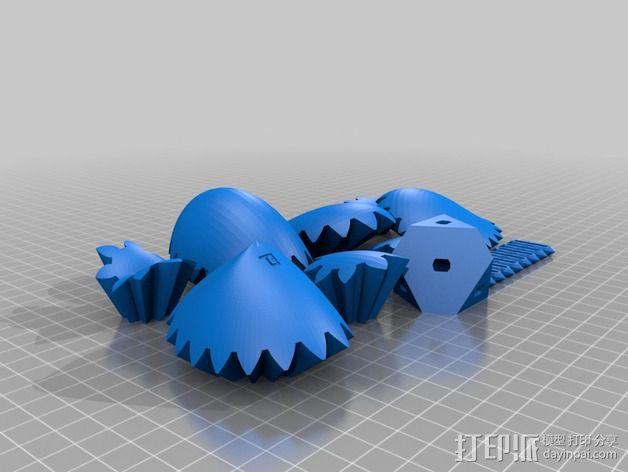 三个齿轮心 3D模型  图7