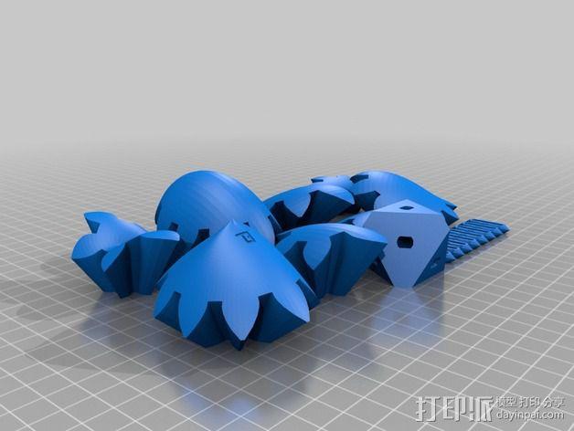 三个齿轮心 3D模型  图6