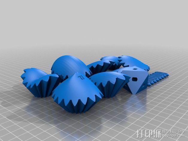 三个齿轮心 3D模型  图8