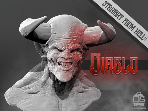暗黑破坏神 3D模型  图1