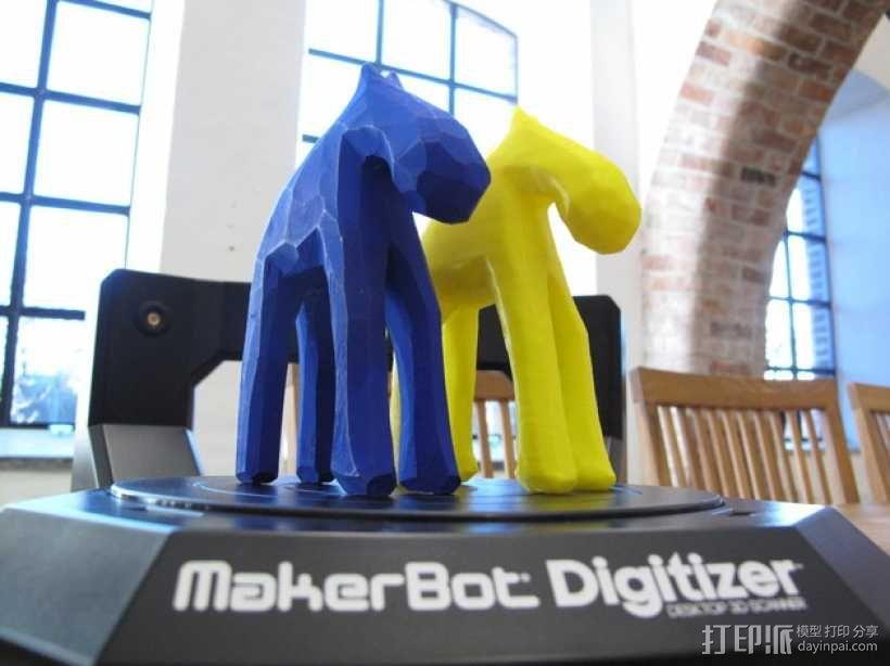 手工木质麋鹿 3D模型  图1
