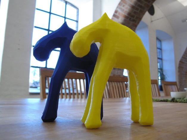手工木质麋鹿 3D模型  图6