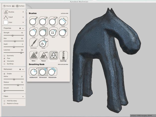 手工木质麋鹿 3D模型  图17