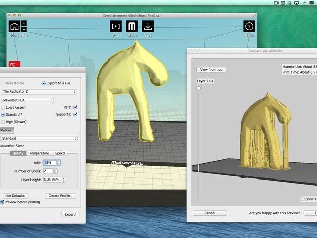 手工木质麋鹿 3D模型  图18