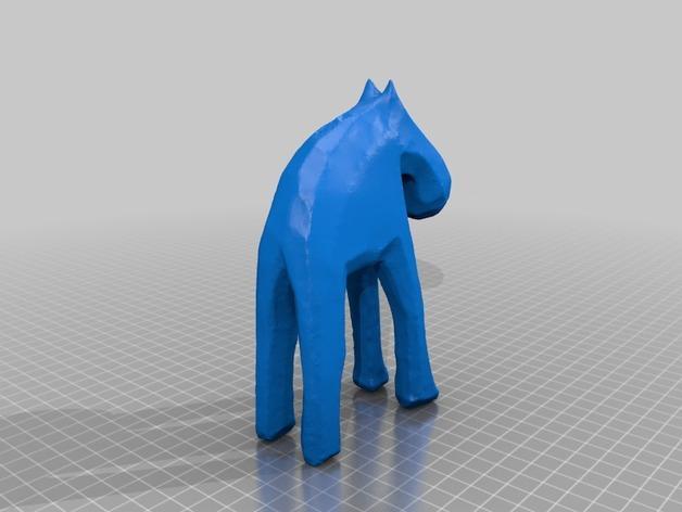 手工木质麋鹿 3D模型  图19